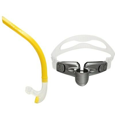 Swimmer's Snorkel Silicone Air-Ease Center Front-mount Swimming Training Snorkel