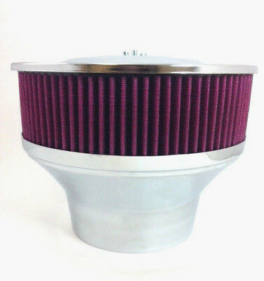 "Velocity Stack Air Cleaner 9"" Washable Element 5 1/8"" Neck & 4 1/4"" Adapter"