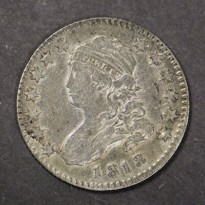 1818 CAPPED BUST 25c SILVER QUARTER DOLLAR ** EARLY U.S. COIN Lot#B050
