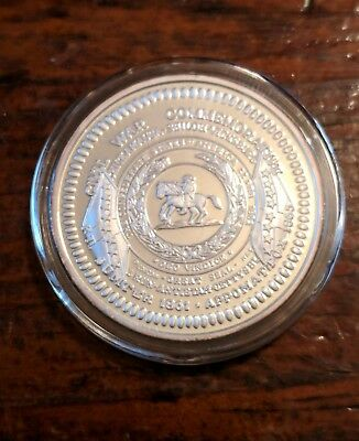 Very Rare Silver Clad  Art Coin 100 Mills .999  - Confederate States of America