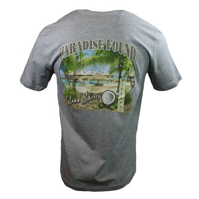 """Paradise Found Men's T-shirt """"Island Shores""""- Bahama -Vacation Fathers Day Gift"""