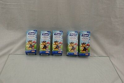 5 Orajel Toddler Training Toothpaste Paw Patrol Tooty Fruity Flavor 1.50oz Ea