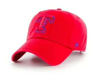 huge selection of df06f 22c68 Texas Rangers Red  47 MLB Tonal Pop  47 CLEAN UP Strapback Hat Dad Hat