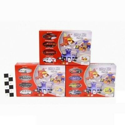 3 Assorted Style Ty813 Vehicle Kids Play Set New Die Cast & Plastic City Kit