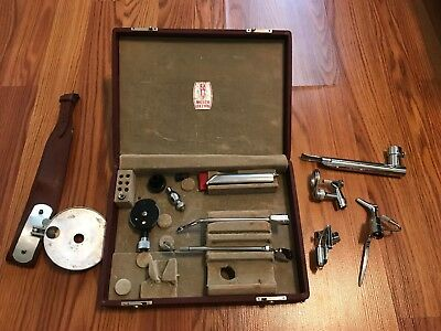 ANTIQUE DOCTOR MEDICAL KIT Welsh allyn doctor set attachments TOOLs Case LOOK