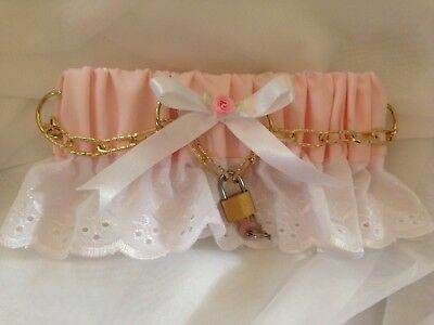 Sissy * Adult Baby * Fetish * Lockable Collar * Pink, Blue Or White