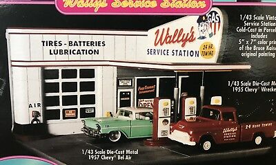Rare ~ American Muscle Cruisin' Series ~ Wally's Service Station (New In Box