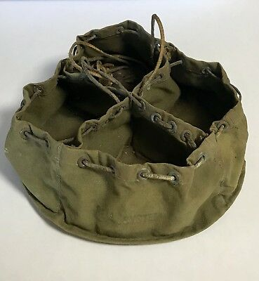 Vintage Bell System Repairmen's Divided Small Parts,Tools Tethered Canvas Bag