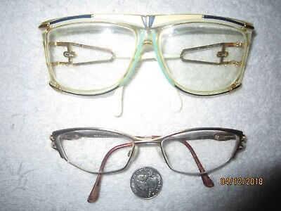 2 CAZAL eyeglasses SEXY college BEACH women WIDE gold AVIATOR vintage hollywood