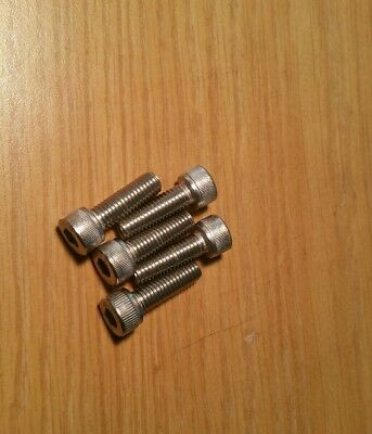 5 Allen Head Cap Screw Zinc Plated Steel M8X25 mm M8-1.25x25mm Socket