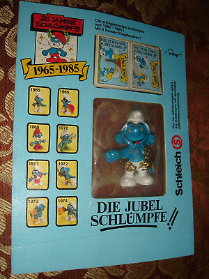 Smurf Jubilee Smurfs Promo Wreath 1979 Figure 20th Anniversary Sealed On Card