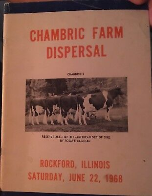 1968 Chambric Farm Holstein Cattle Complete Dispersal Sale Catalog
