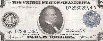 Rare Burke/ Macadoo Cleveland 1914 $20 Federal Reserve Note