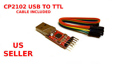 CP2102 USB 2.0 to TTL UART Serial Converter Module STC PRGMR with cable