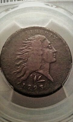 1793 Vine & Bars Wreath Cent PCGS VG