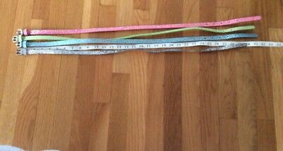 1- Crew Cuts Sparkle Skinny Belt Kids M + 3 Knockoff Belts