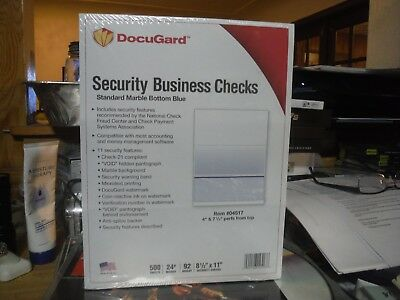 DocuGard Standard Security Marble Business Bottom Check, 24 lb, Letter, 500/RM