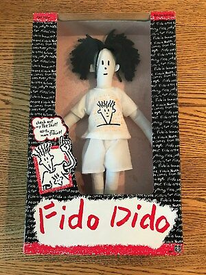 """Vintage Boy Fido Dido Doll New Old Stock in Sealed Box 1985 NOS 7-Up 14"""" Figure"""