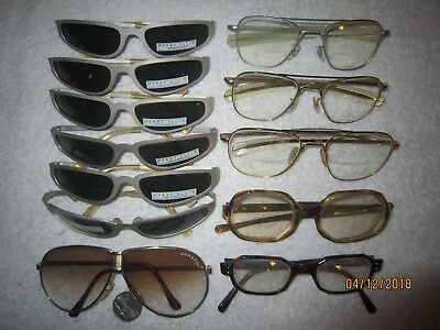 3 RANDOLH AVIATOR Eyeglasses GOLD hollywood SEXY vintage PILOT men women SHOOTER