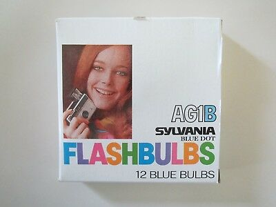 Sylvania Blue Dot AG1B Blue Flashbulbs 12 bulbs