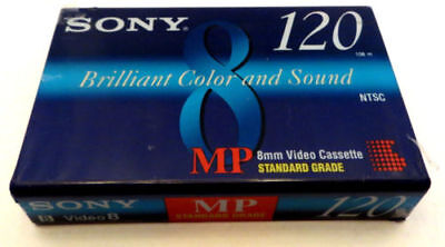 Sony 8mm Camcorder Cassette Tapes Standard P6-120MPC 120 Min Sealed