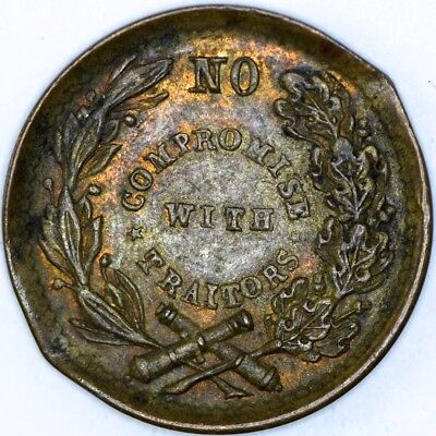 No Compromise with Traitors Civil War Token - NO RESERVE Lot 250 of 256