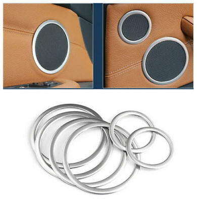 for BMW X5 E70 2007-2013/ X6 e71 2008-14 Steel Door Speaker Ring Cover Trim 6pcs