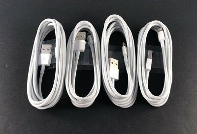 4x 6Ft 2M Lightning USB Cable fit i Phone 6s 6 5 5s 7Data Sync Charger