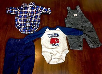 NewBorn Baby Boy Clothes For 3 Months One Piece Pants Overalls 4 Pcs Lot