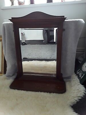 Victorian/edwardian - Wall Or Mantle Bevelled Mirror