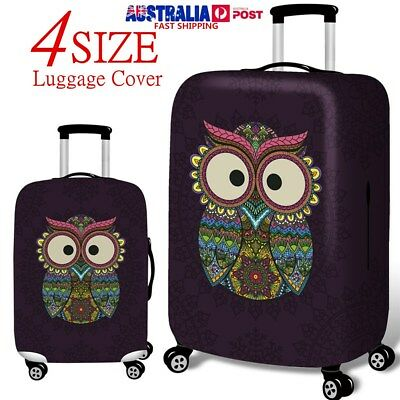 Owl Elastic Luggage Cover Suitcase Protector for 18-32 Inch Travel Spandex Cover