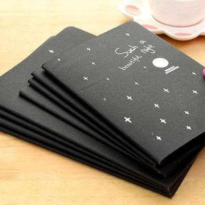 2pcs Sketchbook Notepad Stationery Drawing Black Paper Notebook Painting new