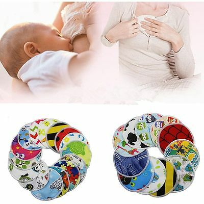 4PCS  Bamboo Fiber Leakproof Anti-spill Washable Nursing Breastfeeding Pads Mats