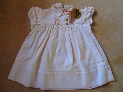 Original Vtg French 1950's NOS Unworn Baby Dress with labels pierrot-pierrette