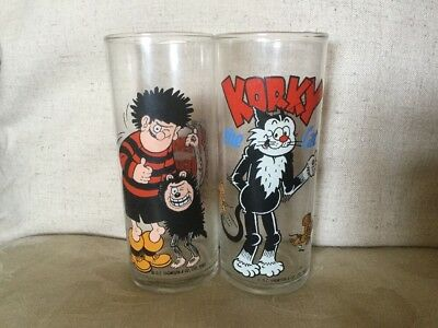 Beano Dennis The Menace and Korky Glasses Dc Thompson 1989