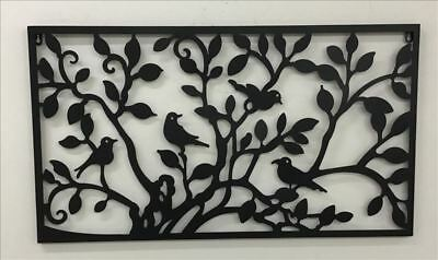 Elemental Wood Carved Wall Art Hanging Screen Ornament Sign Home Garden Decor