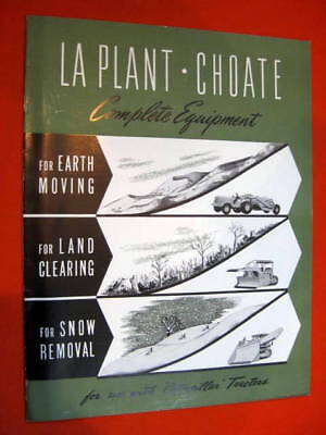 La Plant Choate Earth Moving Equipment Catalog Caterpellar Tractor