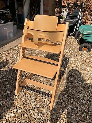 Stokke Tripp Trapp High Chair with Baby Set, Natural Beech