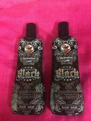 AUSTRALIAN GOLD SINFULLY BLACK 15 X Bronzing LOTION~100%AUTHENTIC~~ LOT OF 2