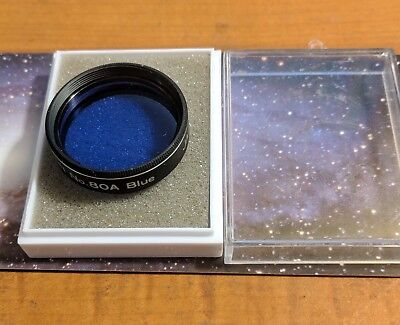 Orion Telescope Eyepiece Filter #80A Blue Made In Japan
