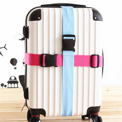 Travel Buckle Lock Tie Down Belt for Baggage Nylon Adjustable Luggage Straps