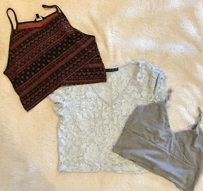 Crop Top Bundle. New Look/Missguided. Size 8