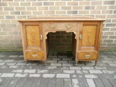 Oak And Walnut Writing Desk (Beleaved To Be  Victorian)