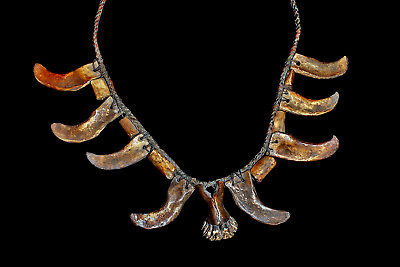 Old Ifugao 19Th Century Tribal Used Authentic Antique Necklace!