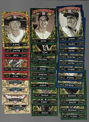 Lot Of 33-2012/13 Cooperstown Chrystal /red Green Blue Gold Shard Sp#299/399/499