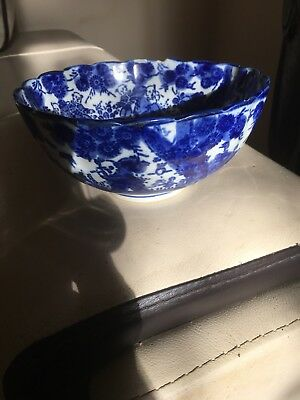 Antique 19th Century Japanese Blue And White Bowl
