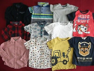 Baby Boys Clothes Bundle - 11 Shirts / Tshirts - Size 18-24 Months