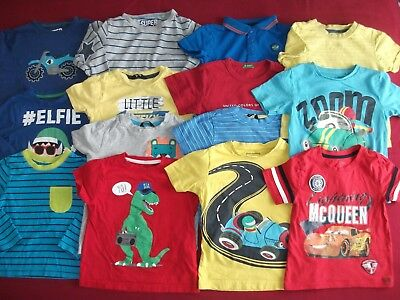 Boys Clothes Bundle - 14 Tshirts / Tops - Age 2-3 Years