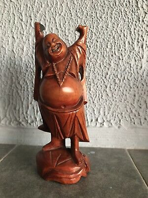 Antique Chinese Wooden Hand Carved Man Figurine Statue