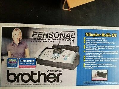 Brand new Brother FAX-575 Plain Paper Thermal Copier Fax